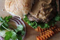 Pork Burgers with Peanut Sauce