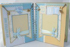 Handmade baby boy scrapbook