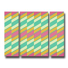 'Geometric Study XVII' by Alexis Bueno 3 Piece Graphic Art on Wrapped Canvas Set