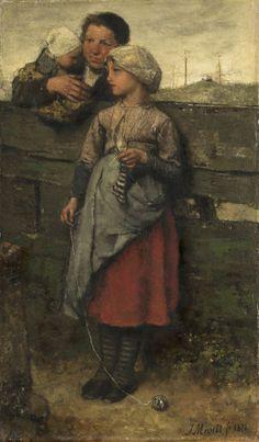 Jacob Maris, Dorpelingen, 1872, olieverf op doek, 41 x 25.5 cm, Rijksmuseum, Amsterdam