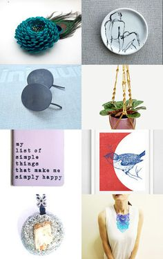 Blue gifts by Elsa Pakopoulou on Etsy--Pinned with TreasuryPin.com