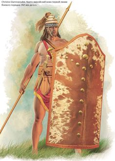Mycenaean warrior 1600 B. by Christos Giannopoulos Archaic Greece, Ancient Greece, Ancient Egypt, Ancient Aliens, Ancient Artifacts, Greek History, Ancient History, European History, American History