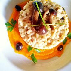 In Cucina con Mamma Agnese: Risotto ai Funghi Chiodini su Crema di Carote all'...