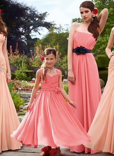 Cheap and Australia Coral   Lilac Straps Ruched Bodice with Handmade  Flowers Chiffon Ankle Length Junior Bridesmaid Dresses from  Dresses4Australia.com.au b8e5db4f350a