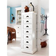 Need a tall dresser or two to save space in the apartment-a tiny little apartment like that, we dont have space for the big dresser thats there already. Drawer Storage Unit, Tall Cabinet Storage, Bedroom Dressers, Bedroom Furniture, Tall Narrow Dresser, Tall Skinny Dresser, White Drawers, Tall Drawers, Modern Dresser
