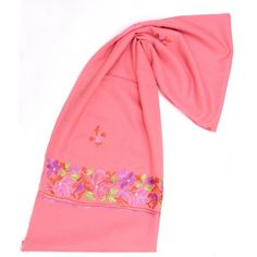 PINK PALDAR WITH FLOWERS. http://www.indiancraftsmen.com/accessories/shawls/pink-paldar-with-flowers-apsh0128