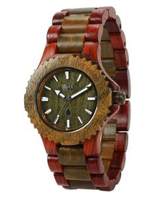 WeWood watch DATE BROWN-ARMY