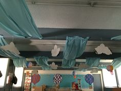 Preschool, classroom decorations, boards, oh the places you will go, Sky VBS