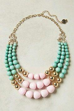Nice pink and aqua green