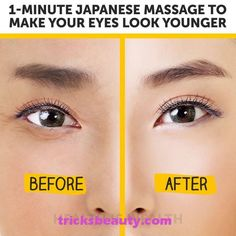 Japanese Massage to Make Your Eyes Look Younger – Skin Care Yoga Facial, Massage Tips, Massage Techniques, Massage Therapy, Massage Benefits, Japanese Massage, Face Exercises, Too Faced, Skin Care Treatments