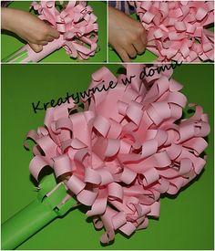 hiacynt z papieru, kwiatek na dzień mamy, kwiat z papieru
