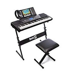 RockJam 561 Electronic 61 Key Digital Piano Keyboard SuperKit with Stand Stool Headphones & Includes Piano Maestro Teaching App with 30 Songs This is rated as one of the hot selling products in Musical Instruments category in Canada. Click below to s Digital Piano Keyboard, Keyboard Piano, Turtle Beach, Piano Songs, Piano Music, 61 Key Keyboard, High Quality Headphones, Drum Chair, Drum Table
