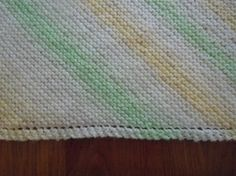 How to knit; Grandma's favorite baby blanket knitting pattern