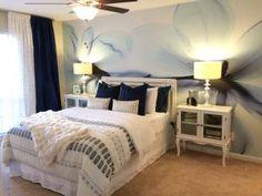 Magnolia-Blue Mural - Hong Pham  Murals Your Way