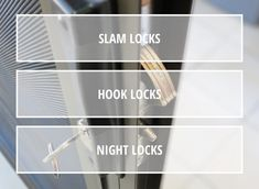 We offer a variety of locks in oir security screens