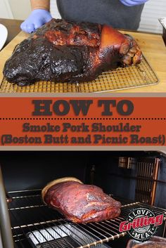 How To Smoke Pork Shoulder (Boston Butt and Picnic Roast) Pork Shoulder Picnic Roast, Cooking Pork Shoulder, Smoked Pork Shoulder, Pork Shoulder Recipes, Smoked Pork Picnic Shoulder Recipe, Pulled Pork Meat, Pork Roast Recipes, Traeger Recipes, Grill Recipes