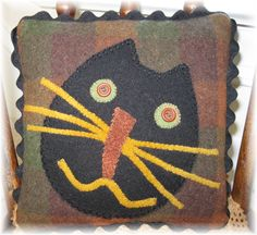 Wool Applique...Had fun with this guy...