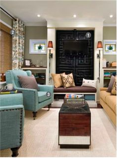 Candice Olson - love the window treatments and color scheme