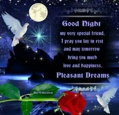 Good Night my sweet Sics.Have a blessed night.Love You ...