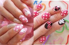 love the minnie mouse nails. I don't love having 3D nail art on my fingers