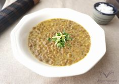 Lentejas al curry con leche de coco Coconut Milk Curry, Canned Coconut Milk, Vegan Gluten Free, Vegan Vegetarian, Dog Food Recipes, Healthy Recipes, Healthy Food, Delicious Recipes, Good Food