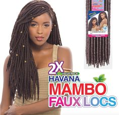 Janet Collection 2X Havana Mambo Faux Locs 18''
