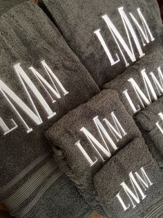 A personal favorite from my Etsy shop https://www.etsy.com/listing/506471977/monogrammed-towel-set