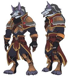 "Animal Drawing twinerism-art: ""Some commission work for a good friend, Wildcard, of his World of Warcraft character Deklan O'connell. I loves me some worgens. Furry Wolf, Furry Art, World Of Warcraft Characters, Fantasy Characters, Wolf Character, Werewolf Art, Chibi, Warcraft Art, Monsters"