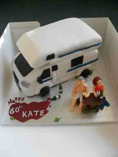 Caravan/Mobile home cake - made using fondant