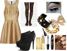 """""""Gold."""" by raerae132 ❤ liked on Polyvore"""