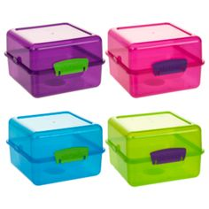 Pretty and practical these colourful Lunch Cubes from Sistema are perfect for snadwiches and snacks! Sistema Containers, Storage Containers, Food Storage, Back To School Essentials, Stationery Shop, Going Back To School, Little Boxes, School Bags, Food Fresh