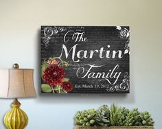 Hey, I found this really awesome Etsy listing at https://www.etsy.com/listing/124097598/personalized-family-name-sign-canvas