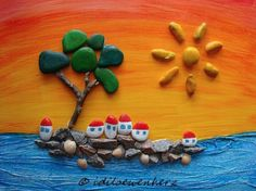 Pebble Island von idiloewenherz, inspired by Michaela Bufalini www.gigarte.com/quadridipietra/home
