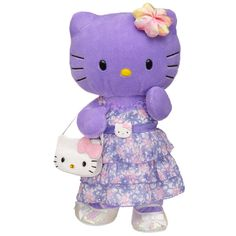 Flowers Purple Hello Kitty® by Sanrio® - Build-A-Bear Workshop US Hello Kitty Plush, Hello Kitty Items, Custom Teddy Bear, Hello Kitty Christmas, Hello Kitty Characters, Teddy Bear Clothes, Purple Cat, Hello Kitty Collection, Hello Kitty Wallpaper