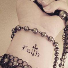 Faith cross temporary tattoo religious tattoo by SharonHArtDesigns