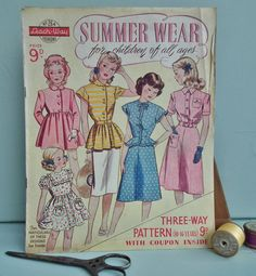 Vintage Sewing Patterns Catalog 1940s LeachWay by sewmuchfrippery, $24.00