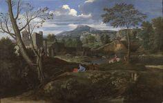 Nicolas Poussin - Landscape with Buildings (1648-1651), Museo Nacional del Prado, Madrid