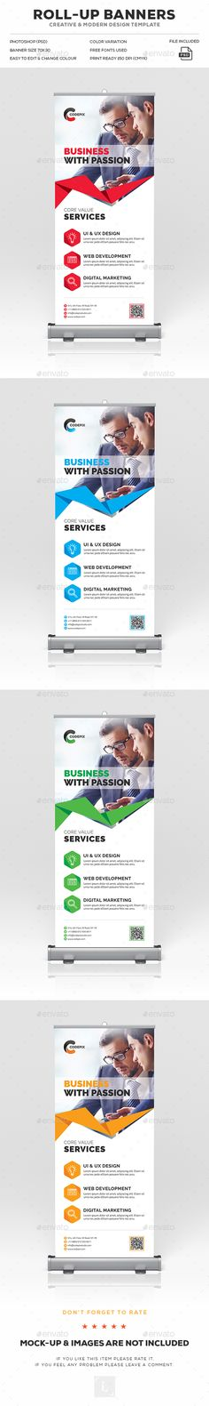 Corporate Roll-Up Banner Template PSD. Download here: https://graphicriver.net/item/corporate-rollup-banner/17043156?ref=ksioks