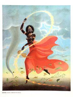 Deuses do Panteão Africano - Orixás - 1978. Conjunto com 16 reproduções de telas de Nelson Boeira Fa