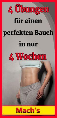 Diese 4 Übungen werden Ihnen helfen, einen perfekten Bauch in nur 4 Wochen zu erhalten Fitness Workouts, Fitness Motivation, Cellulite, Healthy Living, Health Fitness, Abs, Exercise, Yoga, Sports