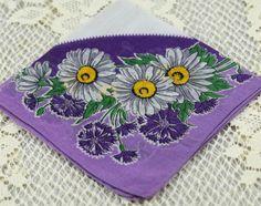 Beautiful Vintage Hankie Purple, Lavender and White  just $8.50