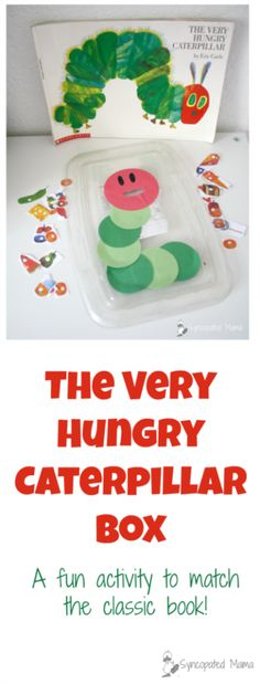 """Babies to Bookworms provides a variety of fun caterpillar activities to pair with Eric Carle's classic """"The Very Hungry Caterpillar""""! Check them out!"""