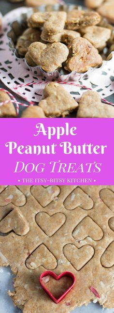 Homemade apple peanut butter dog treats are an easy and healthy way to say I love you to your fur babies recipe via dogtreats peanutbutter homemadedogtreats dogbiscuits Puppy Treats, Diy Dog Treats, Healthy Dog Treats, Apple And Peanut Butter, Peanut Butter Dog Treats, Homemade Dog Cookies, Homemade Dog Food, Healthy Homemade Dog Treats, Pumpkin Dog Treats Homemade