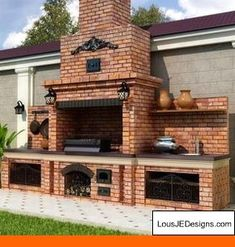 "Receive excellent suggestions on ""built in grill patio"". They are offered for you on our internet site. Backyard Kitchen, Summer Kitchen, Outdoor Kitchen Design, Backyard Patio, Outdoor Kitchens, Patio Gas, Backyard Barbeque, Backyard Landscaping, Outdoor Oven"