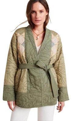 Isle Of Man, Highlands, Green Kimono, Kimono Coat, Anthropologie Uk, Hippie Outfits, Quilted Jacket, Festival Outfits, Luxury Fashion