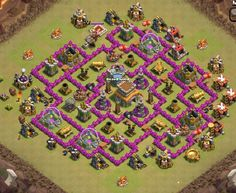 TH8 Trophy Base, Clash of Clans. By @BroHenderson