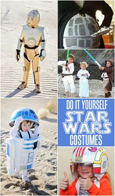 DIY Star Wars Costume ideas for kids - perfect for your cute little Star Wars fanatics!