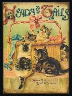 Wood Block Kittens Cats Vintage Style Childrens Print Shelf Sitter 67 | eBay