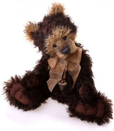 Conker by Charlie Bears. Limited edition of 500 and made from gorgeous, wavy mohair.