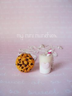 Cookies and Milk Best Friend BFF Necklace by MyMiniMunchies, Get one for you and your bestie! Hand-made in the USA. www.myminimunchies.com